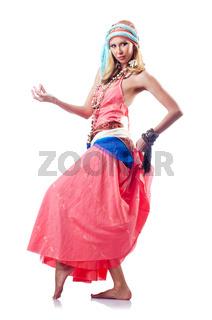 Dancer dancing spanish dances