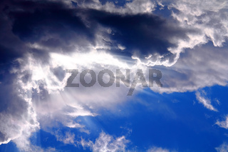 sun on a background of clouds