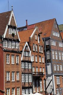 Häuser an der Deichstrasse/Nikolaifleet, Hamburg