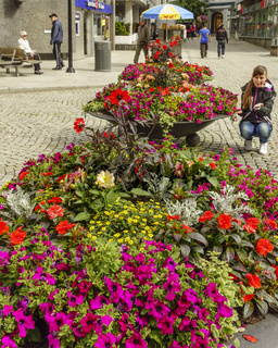 Girl With Flower Display Stavanger Norway