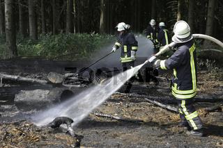 Waldbrand durch Unachtsamkeit