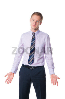 businessman expressing misunderstanding