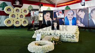 Rafik Hariri grave memorial - Beirut, Lebanon.