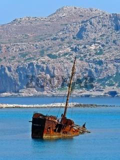Schiffswrack bei Gramvousa, Kreta