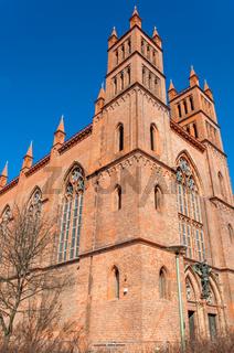 Red brick church in Berlin Germany