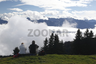 Über den Wolken auf der Hörnergruppe