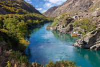 RIPPONVALE, CENTRAL OTAGO, NEW ZEALAND - FEBRUARY 17 : Old gold mining area of Ripponvale by the  Kawarau River in New Zealand on February 17, 2012