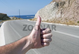 hitchhiker in Greece