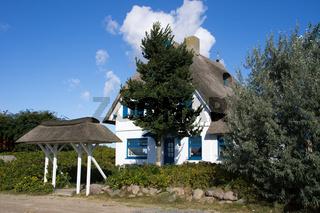 Gebäude auf dem Graswarder von Heiligenhafen, Deutschland