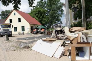 Hochwasser in Sachsen, Deutschland, Gruna