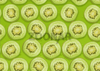 seamless background of  Kiwi slices