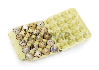 Eggs in package isolated