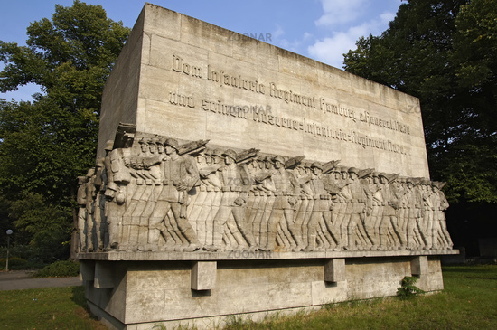 Memorial of war in the near of the Dammtordamm in