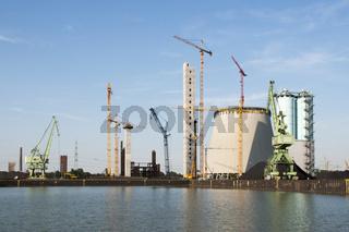 Neubau Kohlekraftwerk Trianel in Lünen, NRW, Deutschland