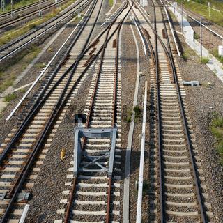 Eisenbahnschienen im Zentrum von Berlin