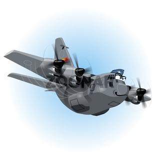 Cartoon Cargo Airplane
