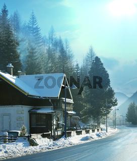 Winter in Alp mountains
