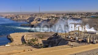 Egypt Aswan Dam Water Release
