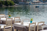 Traditional Cretan Food Restaurant at chalkidiki area in Greece.