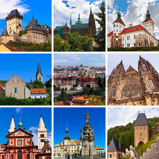 Collage of Praha Czech images