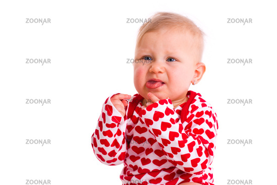 studio portrait of little baby