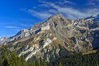 Peak Scex Rouge in the massif of the Diablerets,Alpes vaudoises, Vaud, Switzerland
