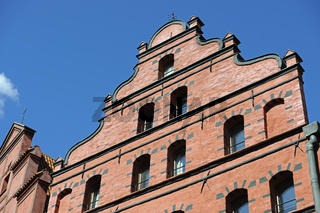 historische Giebel in der Altstadt,  Stralsund , Unesco Weltkult