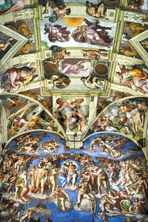 Michelangelo's paintings in the Sistine Chapel, Vatican museum, Rome, Italy