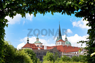 Cityscape of Prague in summer.
