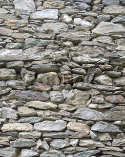Texture of wall made of stones and rocks