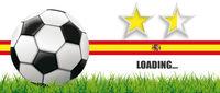 Football Grass Spain Flag Header 2 Stars Loading
