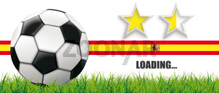Football Grass Spain Flag Header 2 Stars Loading