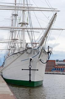 Bow of a sail ship
