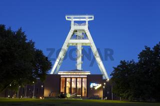 Bochum - Bergbaumuseum am Abend