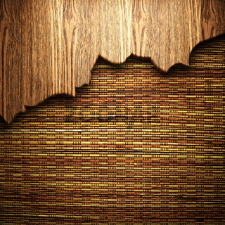 wood on the wall