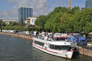 Ausflugsschiff, Main, Frankfurt, Hessen, Deutschland, Europa