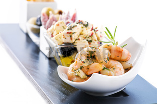 Snack bar with antipasto