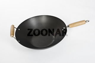 wok isolated on white background