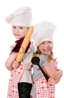 two children cooks