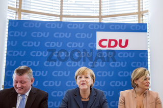 CDU Federal board meeting with Merkel.