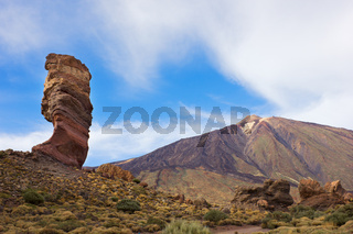 valley of volcano Teide, Tenerife, Spain