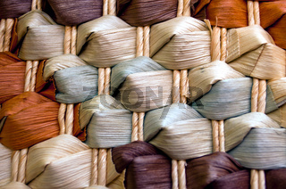 Textur - farbiges strohgeflecht