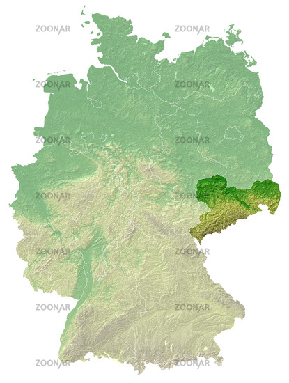 Saxony relief map