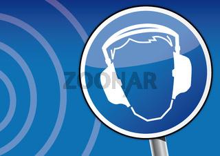 Gehörschutz, Schild, Tinnitus, Schallschutz, Hörsturz