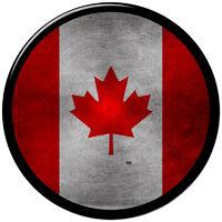 Canadian metallic button