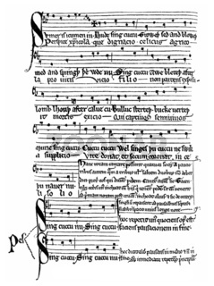 manuscript from the 13th Century,  Middle English  song