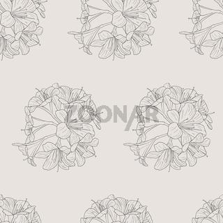 seamless wallpaper bouquet of lilies