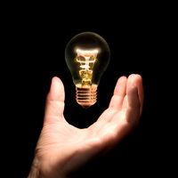 bulb lamp in hand