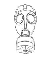 Protection gas mask sketch. Vector Illustration EPS8
