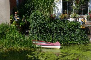 Boot an der alten Wassermühle in Bad Oldesloe